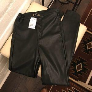 Skinny pleather pants